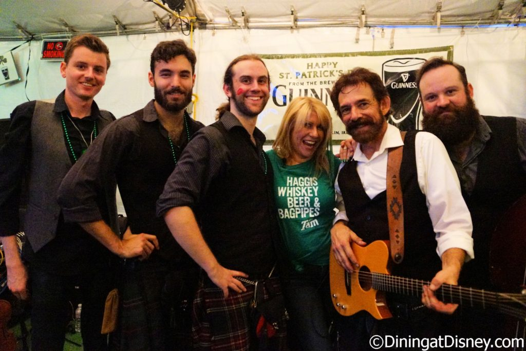 Kat Cressida hanging with the Ploughboys at Tam O'Shanter