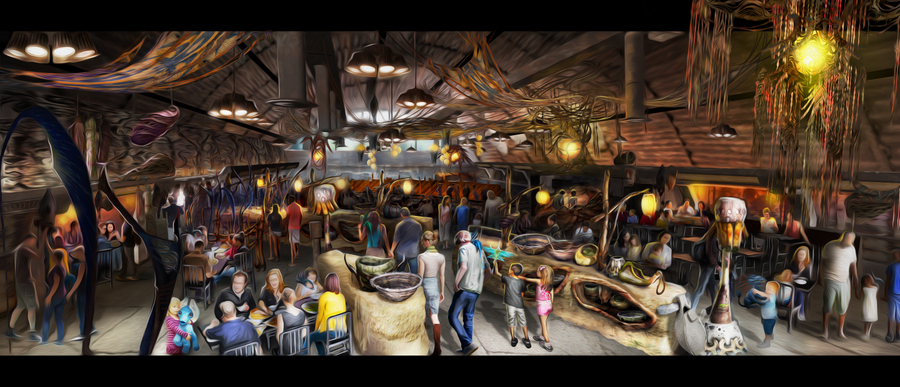 Satu'li Canteen opening in Pandora-The World of Avatar (David Roark, photographer)