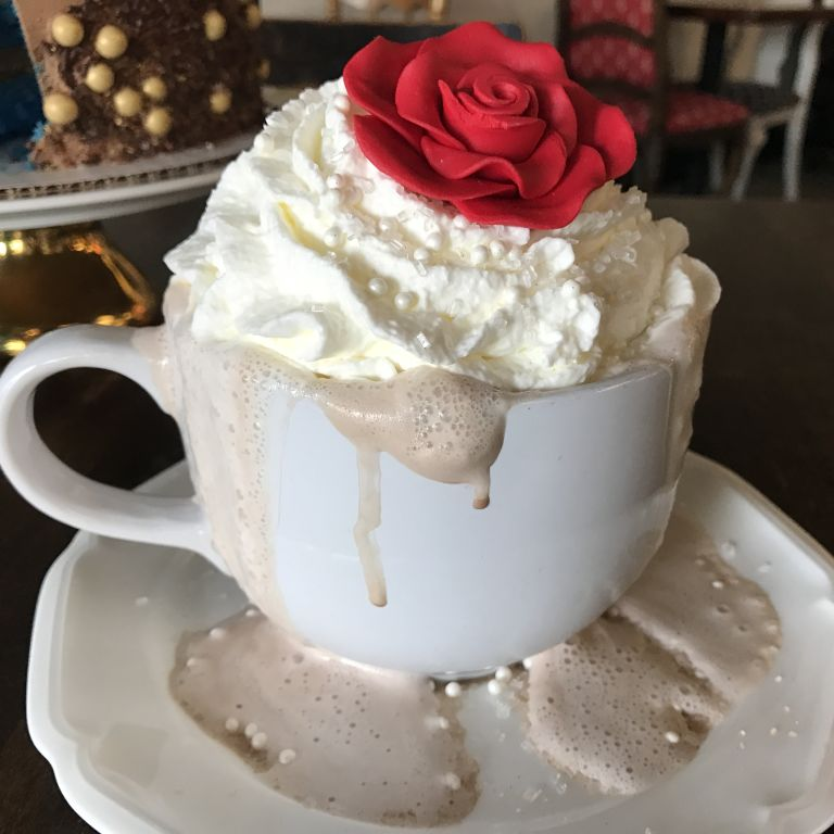 Enchanted Rose Hot Chocolate from Creme and Sugar - Beauty and the Beast