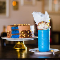The Beast Shake and Blue Velevet Beast Cake at Creme and Sugar