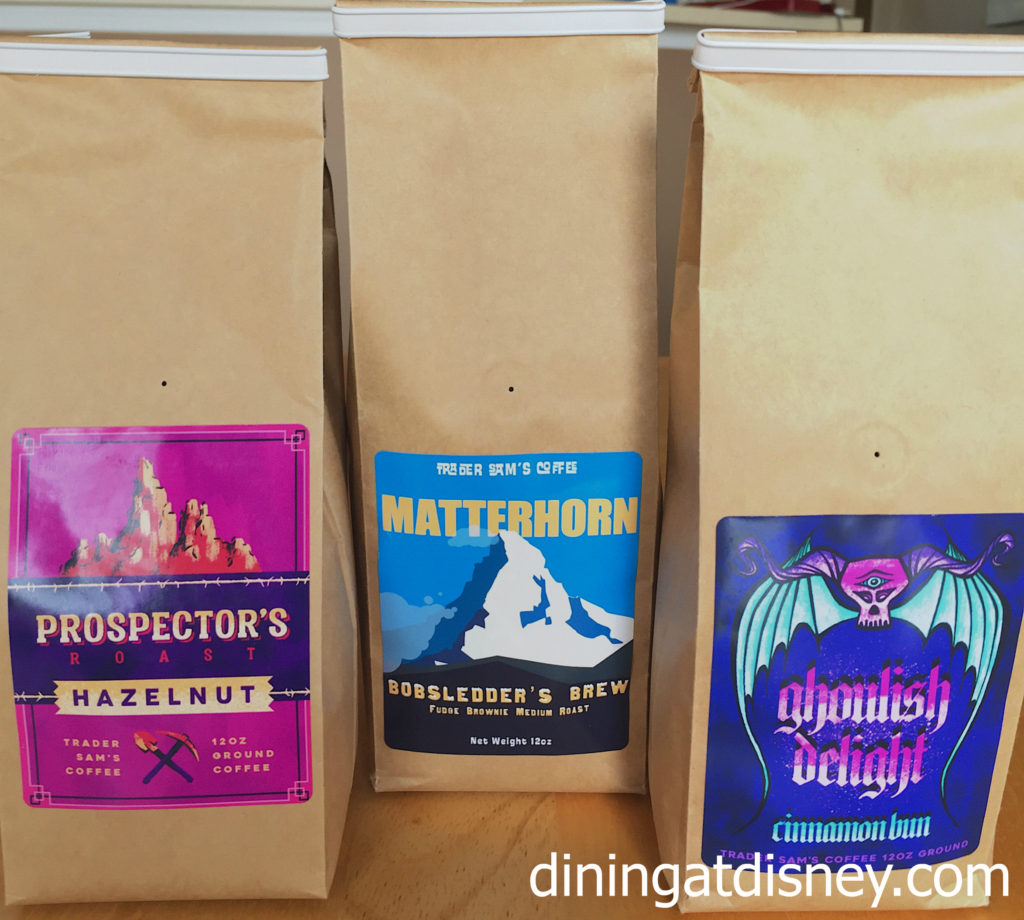 Trader Sam's Coffee Prospector's, Mattherhorn and Ghoulish Delight