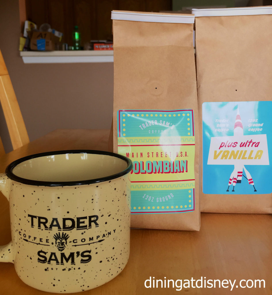 Trader Sam's Coffee Company mjug, Main Street U.S.A. and Plus Ultra Vanilla