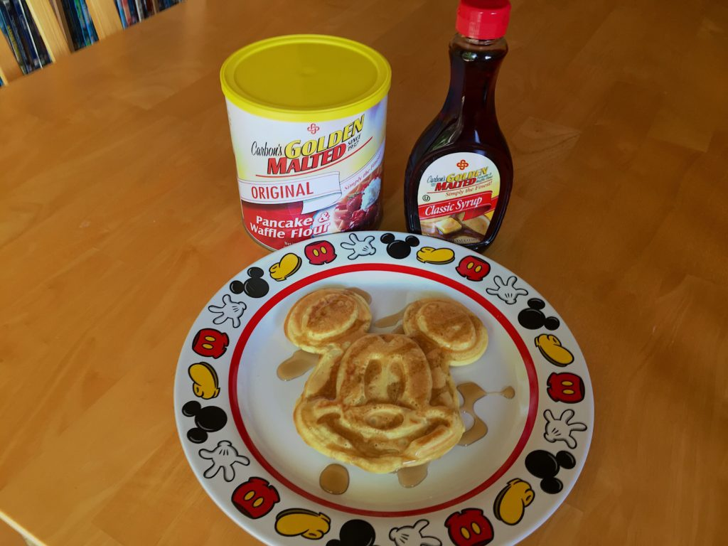 Delicious Mickey Waffles just like you get at the Disney Parks