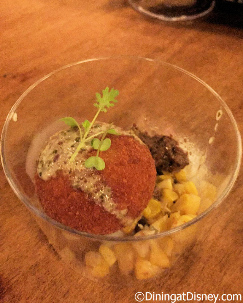 "Sweet Corn Risotto ""Arancini"" from Cabana Bar and Beach Club at Swan and Dolphin Food and Wine Classic 2017"