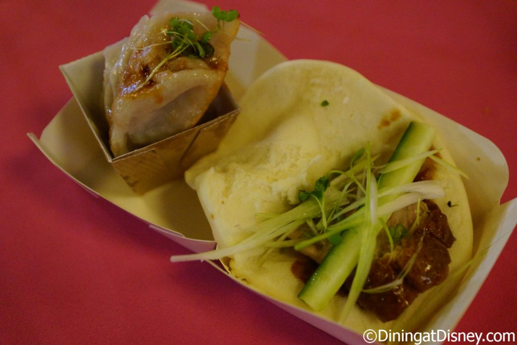 Potsticker and Duck Bao Bun from Chinatown - Swan and Dolphin Food and Wine Classic 2017