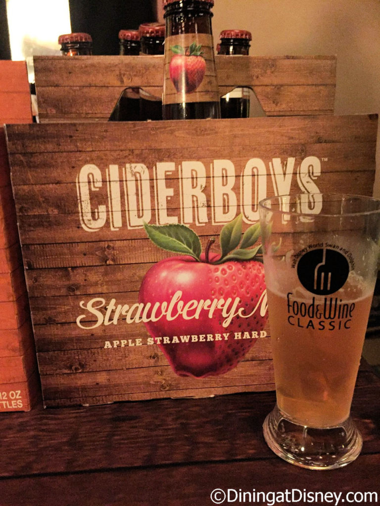 Ciderboys Strawberry Magic at Swan and Dolphin Food and Wine Classic 2017