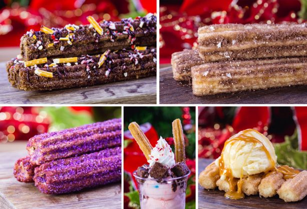 Festive Holiday Churros - 2018 Holiday Foodie Guide to Disneyland