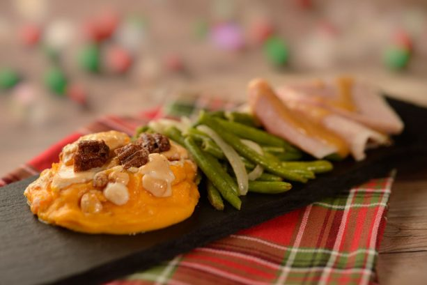 Slow-roasted Turkey with Stuffing, Mashed Potatoes, Green Beans and Cranberry Sauce - America - 2018 Epcot International Festival of the Holidays Foodie Guide